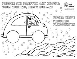 flood coloring pages pepper the prepper cat get ready coloring book
