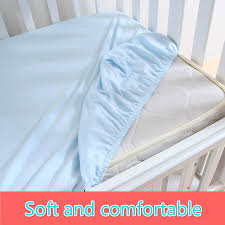 soft sheets 1 pc 100 cotton solid color soft baby mattress cover fitted