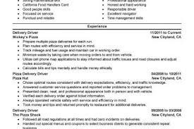 Delivery Driver Resume Example by Pizzeria Resume Reentrycorps