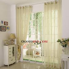 yellow and green striped sheer curtain simple curtain panels buy