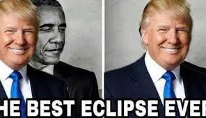 Memes De Obama - trump comparte un meme tapando a obama el mejor eclipse de la
