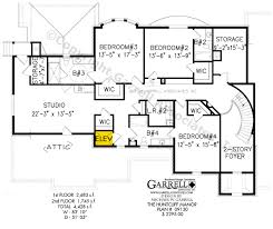 2nd Floor House Plan by Huntcliff Manor House Plan Colonial House Plans