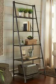 Black Pipe Bookshelf Imposing Industrial Ladder Shelf Style With Iron Pipe Ladder