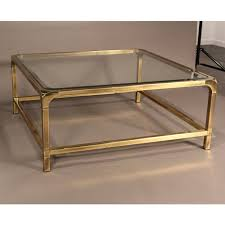 coffee table furniture oval glass top coffee table with brass