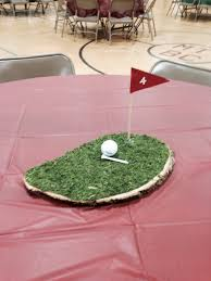 day table decorations golf themed centerpiece idea for a s day table decoration