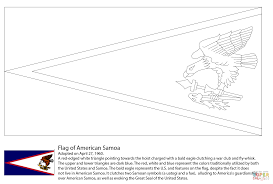 flag of american samoa coloring page free printable coloring pages