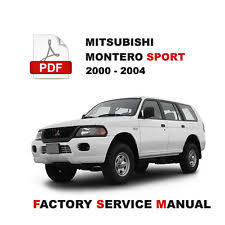 2000 mitsubishi montero in manuals u0026 literature ebay