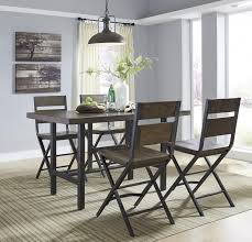 Pine Dining Room Tables Rectangular Dining Room Counter Table W Pine Veneers And Metal