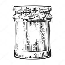 glass jar with jam vector vintage engraved illustration u2014 stock