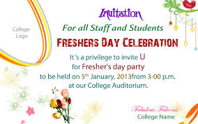 Card Party Invitation Freshers Party Invitation Matter For All Teachers Various