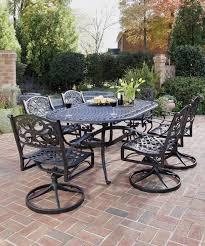 7 Piece Wicker Patio Dining Set - outdoor garden furniture set for outdoor activity stylishoms