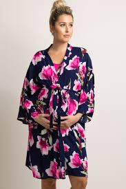 floral delivery navy floral delivery nursing maternity robe