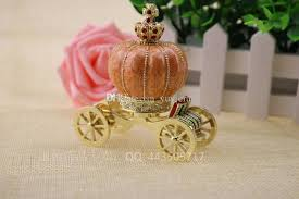 Pumpkin Carriage 2017 Metal Craft With Diamond Royal Pumpkin Carriage Trinket Boxes