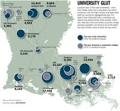 State Of Louisiana Map by Are There Too Many Universities In Louisiana Education