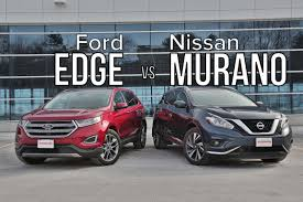 nissan murano dimensions 2017 2016 ford edge vs 2016 nissan murano youtube