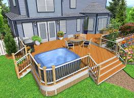 home deck design ideas hot tub deck design ideas home building plans 41239