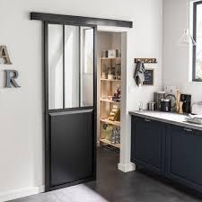 verre pour porte de cuisine où trouver une porte coulissante atelier style verrière coin