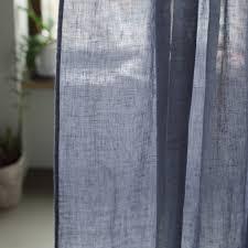 garza linen curtain panel by linenme notonthehighstreet com