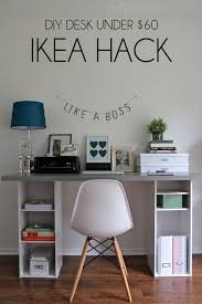 Small Desk Top Diy Ikea Hack Desk 60 Get Two Small Bookshelves From