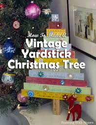 vintage yardstick christmas tree easy craft projects vintage