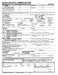 application for a social security card forms and templates