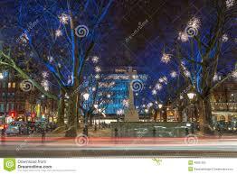 christmas lights display in chelsea london uk editorial image