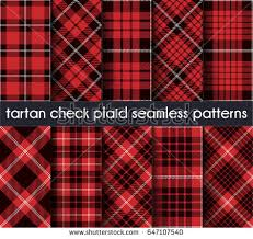 plaid vs tartan set tartan check plaid seamless pattern stock vector 647107540