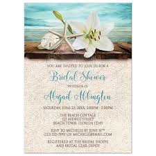 couples wedding shower invitations shower invitations seashells and sand