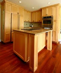 Light Oak Kitchen Cabinets by Oak Kitchen Cabinets With Wood Flooring Tehranway Decoration