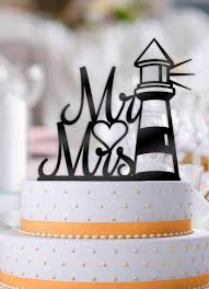lighthouse cake topper nautical lighthouse mr and mrs wedding cake topper bee3dgifts