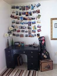 ideas for displaying pictures on walls make a piece of wall art from pics trinkets u0026 postcards from