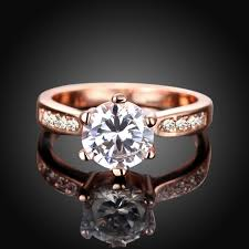 cute wedding rings images Online shop visisap korean cute wedding rings for women rose gold jpg