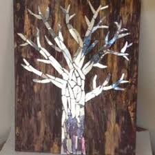 mirror trees on painted canvas my digital portfolio