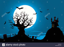 halloween graveyard background illustration of a halloween poster background with haunted house