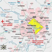 washington dc airports map northern virginia washington dc airports map
