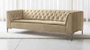 Leather Studio Sofa Sofas Couches And Loveseats Crate And Barrel