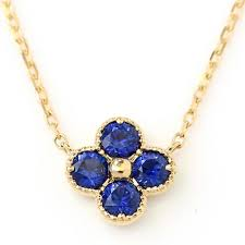 corn flower blue cornflower blue sapphire necklace in 18k gold anais bizoux