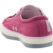keen womens coronado sangria canvas lace up with metatomical