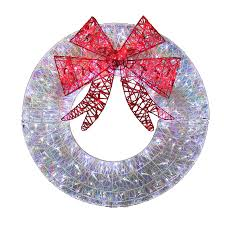 outdoor christmas garland with lights best christmas wreath lightsery operated lighted artificial image