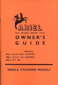 ariel red hunter nh vh vb owner u0027s guide 1956 1960 classic