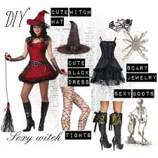 diy witch costume polyvore