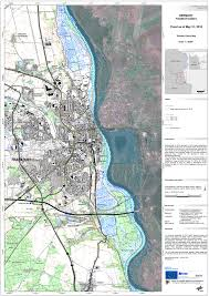 Map Of Frankfurt Germany by Satellite Map Of The Flooded Area Near Frankfurt Oder Germany