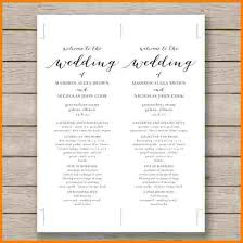 wedding ceremony program templates 8 free printable wedding program templates word free invoice letter