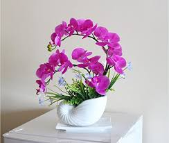 Silk Flower Plants - nearly natural phalaenopsis silk orchid flower arrangement