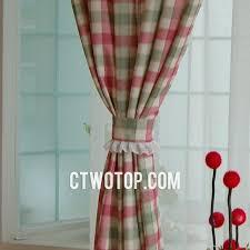 Country Plaid Valances Dreamy Romantic Girls Room Pink Beige And Aqua Plaid Curtains No