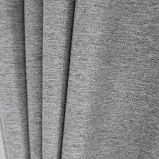 White Linen Blackout Curtains Light Grey Woven Textured Classic Blackout Curtain