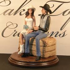 western wedding cake toppers bride and groom country western