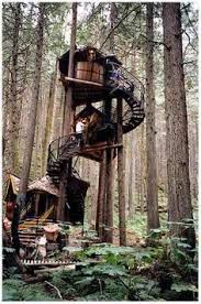 Treehouse Europe - my kind of tree house gothic treehouse stairs stairs stairs