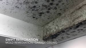 Removing Mold From Ceiling by Mold Remediation Garage Ceiling Youtube