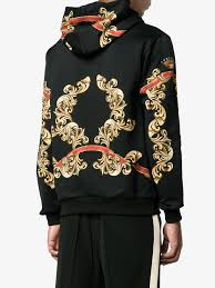 hoodie designer dolce gabbana blazon printed hoodie designer colour hnc69 black